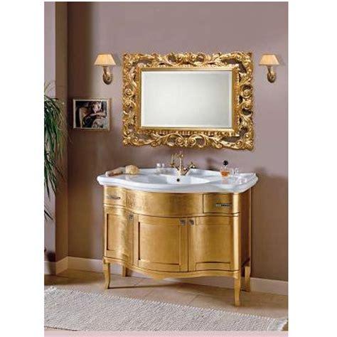 rubinetti dorati mobile bagno con foglia oro per arredo mobili arte povera