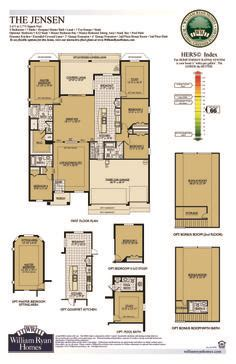 william ryan homes floor plans the jensen on pinterest ryan homes 3 car garage and