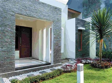 teras depan rumah  kombinasi batu alam rumah