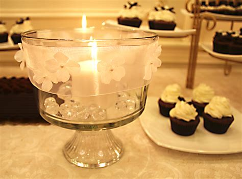 Trifle Decoration by Trifle Bowl Candle Centerpiece