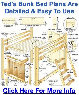 wooden loft bed frame plans diy blueprints loft bed frame