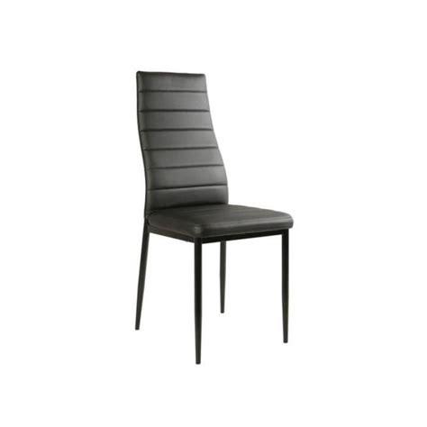 chaise pas cher lot de 6 chaise noir giga matelass 233 e lot de 6 achat vente chaise