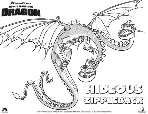 coloring pages dragons 2 hideous zippleback coloring pages 만화영화 색칠공부 dragons
