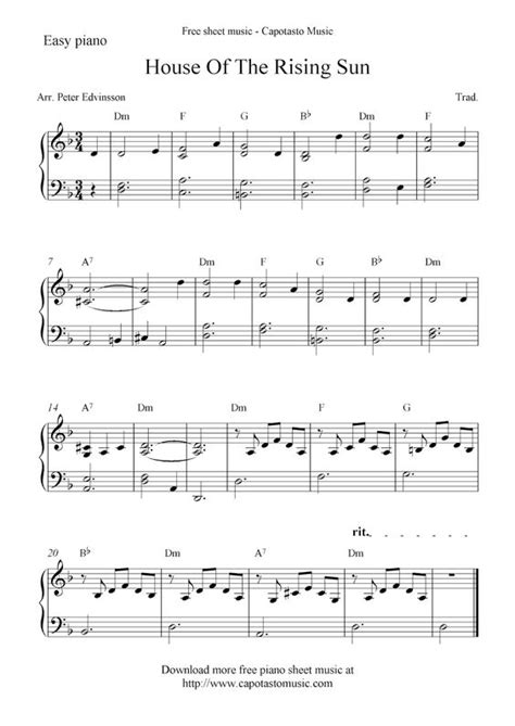 house of note free sheet music scores free piano sheet music score