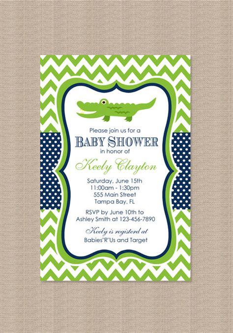 Etsy Baby Shower by Alligator Baby Shower Invitation By Honeyprint On Etsy