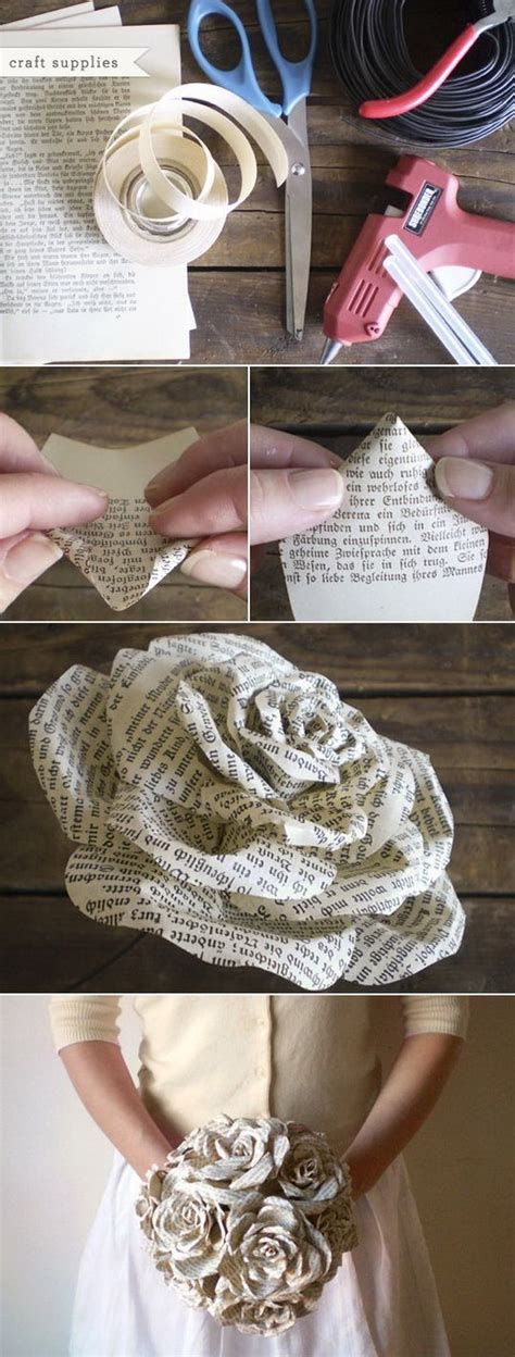 Wedding Bouquet Made From Books by 30 Great Upcycling Ideas For Vintage Book Pages