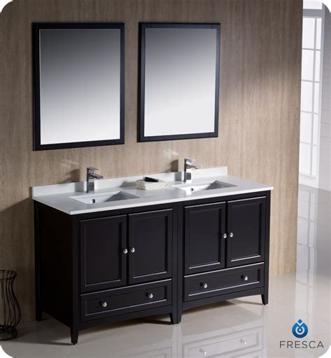 bathroom vanity 60 double sink fresca oxford 60 quot double sink bathroom vanity espresso finish