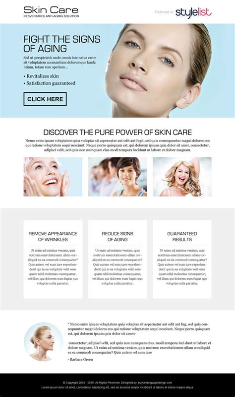 Best Converting Responsive Landing Page Design Templates 2015 Esthetician Business Plan Template