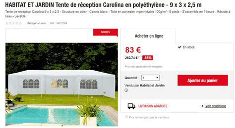 Tente De Jardin Pas Cher 1410 by Tente De R 233 Ception Carolina En Poly 233 Thyl 232 Ne 224 83 Au Lieu