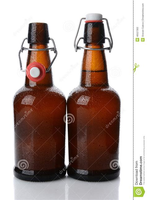 swing top beer swing top beer bottles one open stock photo image 46527302
