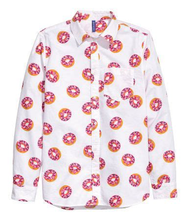 Donut Blouse cheeky allover printed button shirt with doughnut