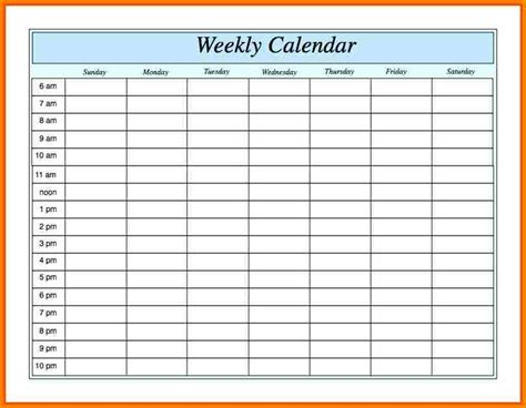 7 Weekly Planner Template Excel Invoice Exle Weekly Invoice Template