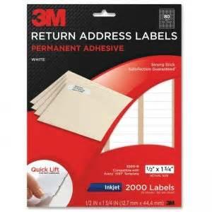 3m Return Address Labels Template