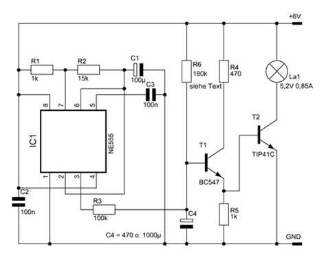 bd funktion quot weicher quot blinker mit dem ne555 elektronische basteleien