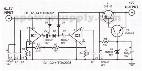 6v to 220v inverter circuit diagram 6v to 12v dc converter circuits