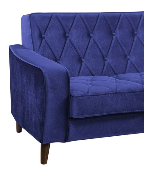 bowery navy velvet sofa from tov 183 219 220 15 coleman