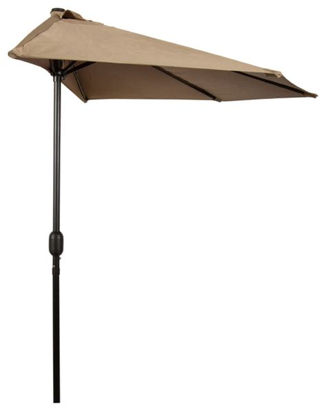 9 patio half umbrella tan contemporary outdoor