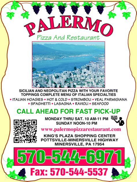 best restaurants palermo palermo pizza restaurant minersville pa 17954