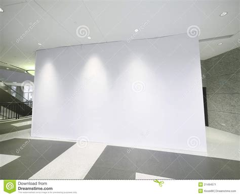 white wall with board and lights stock photo blank white wall stock image image 21494571