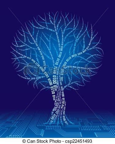 Binary Tree Drawer by Binary Tree Tree Consist Of Binary Code Eps8 Cmyk