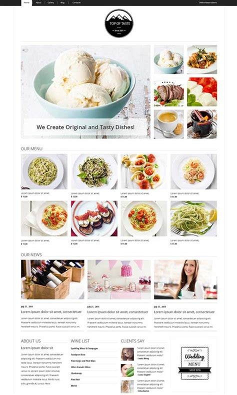 template joomla zaga 50 best restaurant cafe joomla templates 2017