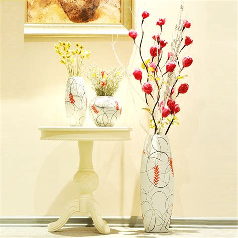 Large Vase Set Ceramic Modern Fashion Brief Home Decoration Large Floor