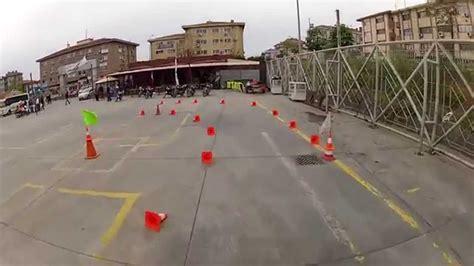 motosiklet ehliyeti sinav parkuru youtube