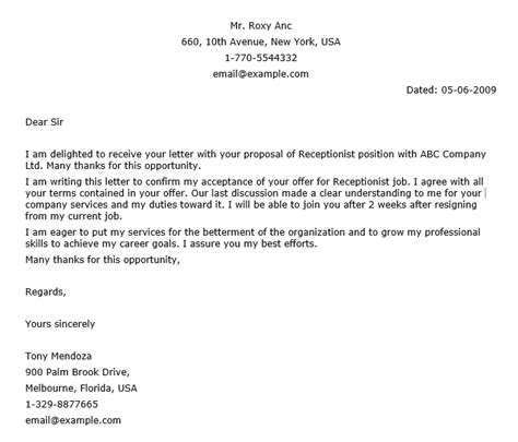 Confirmation Letter To Client Confirmation Letter Sle Crna Cover Letter