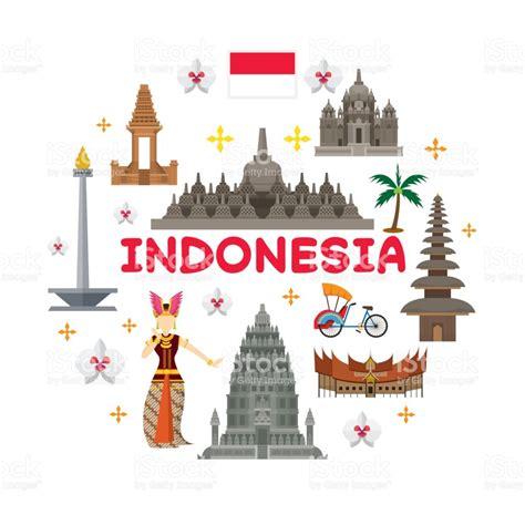 tutorial vector illustrator indonesia indonesia travel attraction label stock vector art more