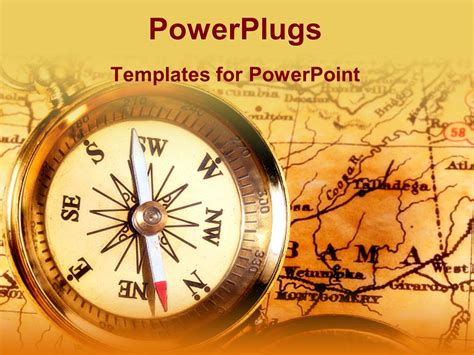 powerplugs templates for powerpoint download powerpoint template compass on top of map on vintage