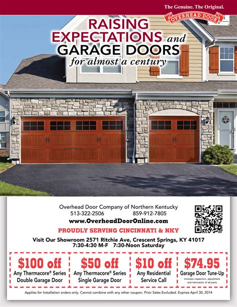 garage discount garage door coupons cincinnati overhead door northern