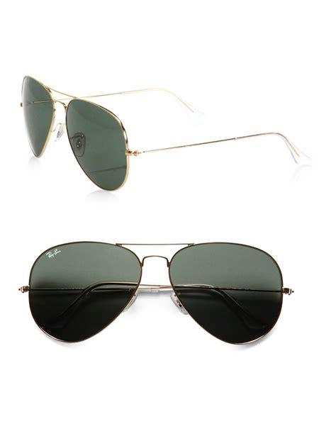 Tali Kacamata 16 Glasses ban original gold aviator sunglasses in metallic lyst