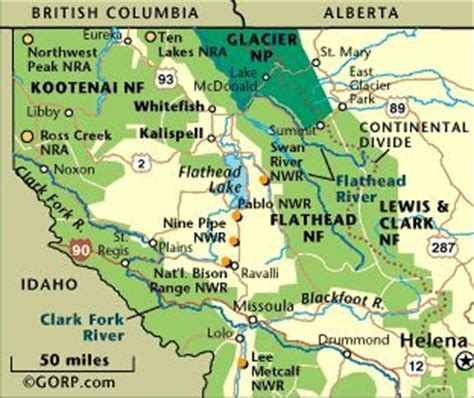 map of national parks in northwest us regional guide glacier national park and northwest