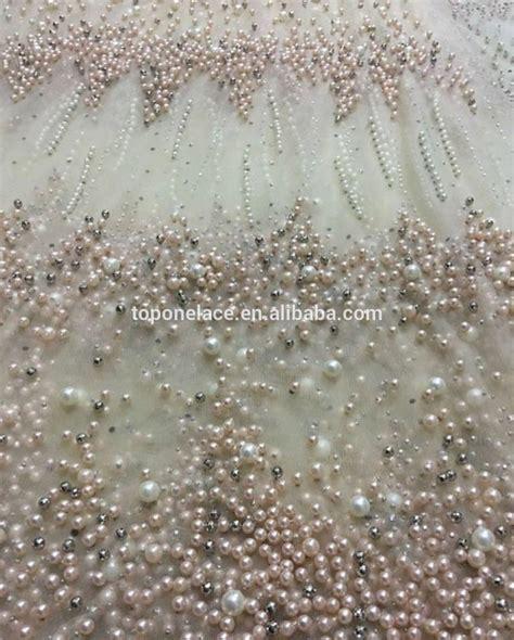 beaded fabric moq 5 yard wholesale sale beaded lace machine