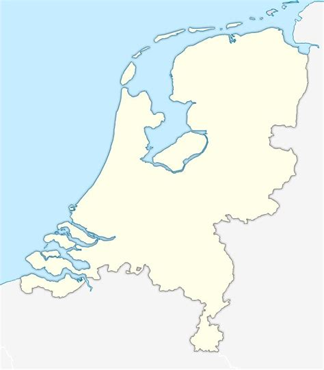 netherlands map outline free vector blank map of netherlands
