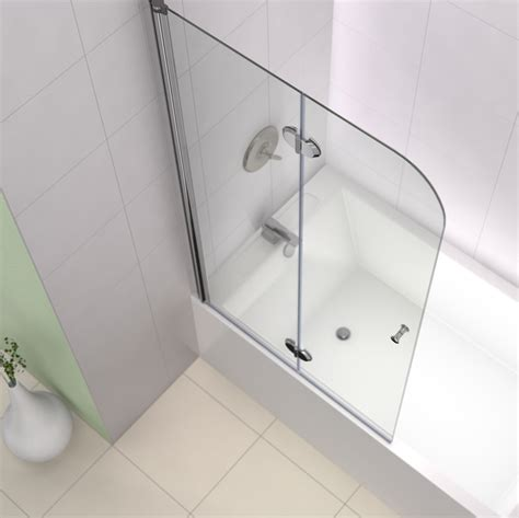 frameless bathtub door dreamline aquafold 36 quot frameless hinged tub door clear 1