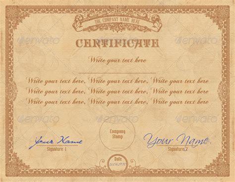 vintage certificate template vintage certificate graphicriver