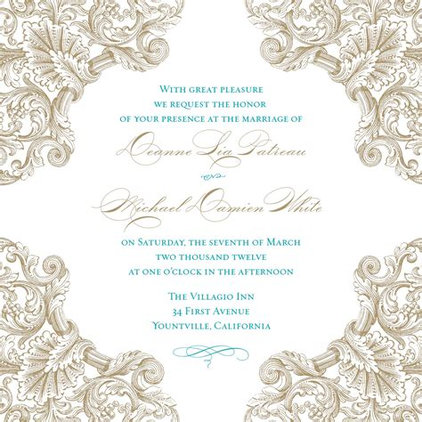 wedding invitation templates beautiful blank vintage wedding invitation templates