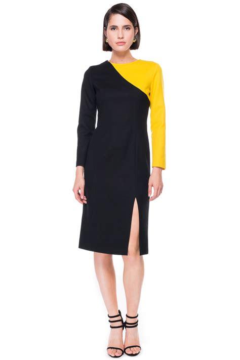 Ab Studio Twotone Dress two tone a line wool dress chemistry studio 169