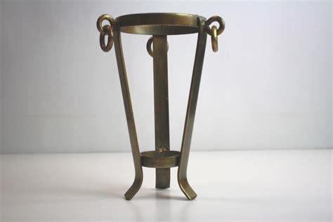 large brass vase stand or holder for a sphere egg globe or