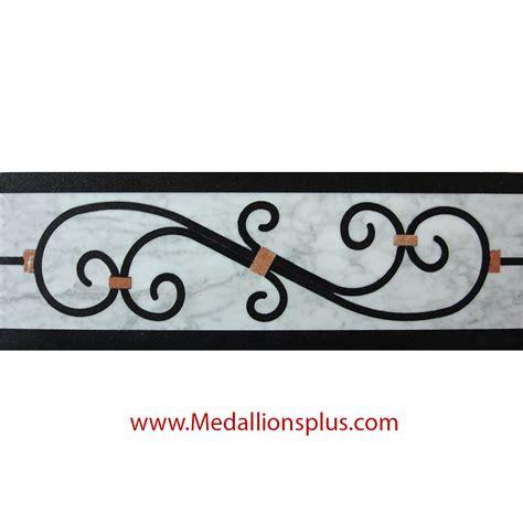 decorative tile borders waterjet tile borders design 54 medallionsplus
