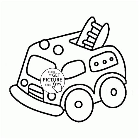 coloring pages fire trucks preschool cute cartoon fire truck coloring page for preschoolers