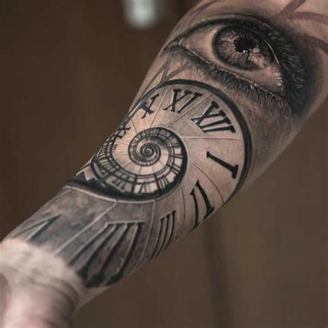 eyeball tattoo duration time for clock themed sleeve tattoos custom tattoo design