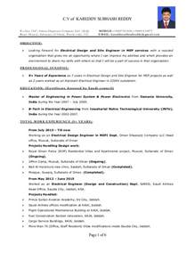 Sle Resume Of Electrical Maintenance Engineer And Gas Electrical Engineer Resume Sle 28 Images Automotive Engineering Graduate Resume