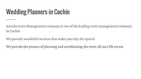 Distance Mba In Cochin by Wedding Planner In Kochi