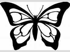 Butterfly black and white butterfly clipart black and ... Easy Tribal Animal Drawings