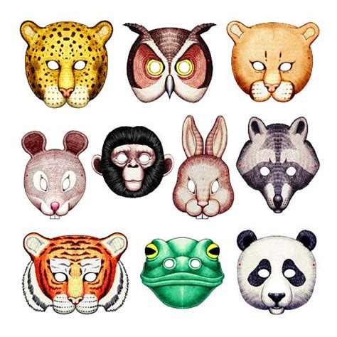 printable nocturnal animal masks image detail for printable animal masks from