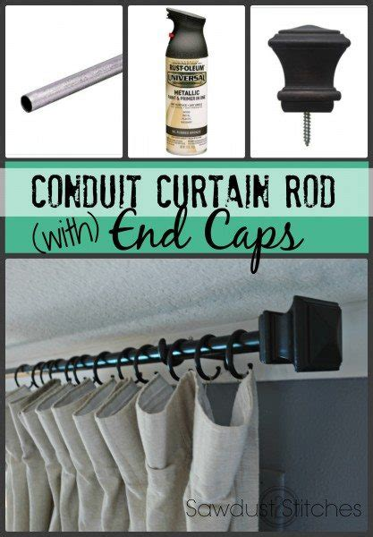 electrical conduit curtain rod conduit curtain rod with end caps sawdust 2 stitches