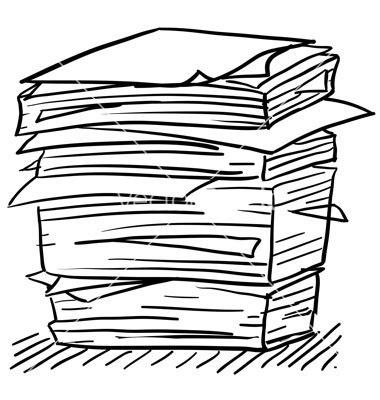 doodle risma clip of paper pile clipart clipart suggest