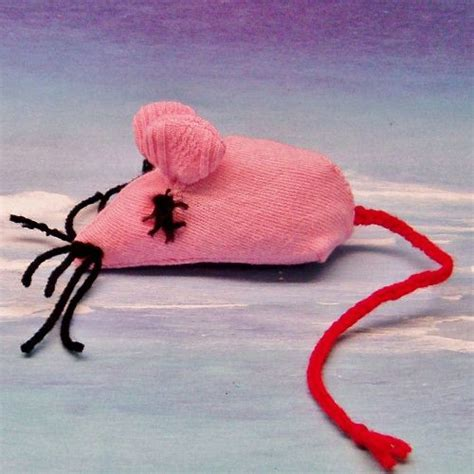 Handmade Cat Toys - handmade pink catnip mouse cat stuffed with organic
